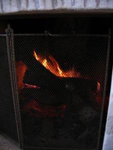 du feu dans la cheminée...