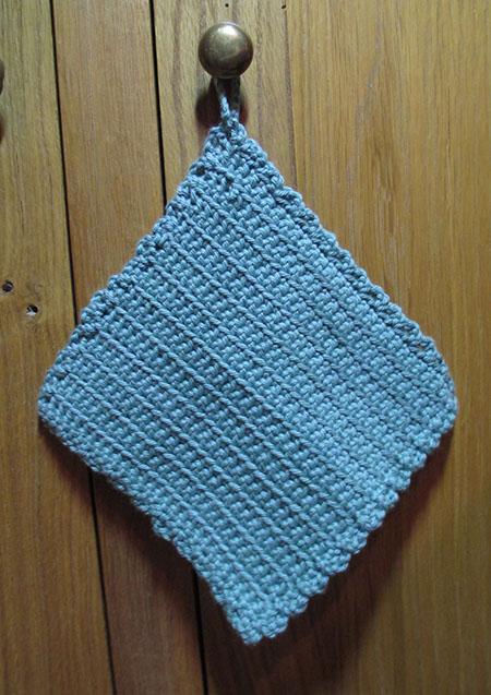 lingette en coton au crochet