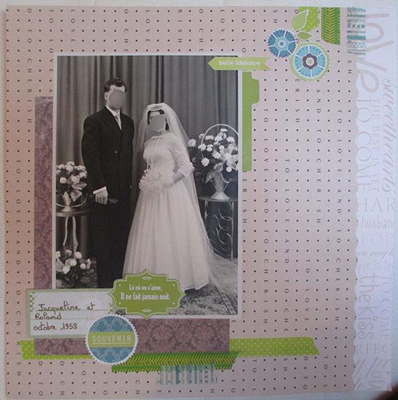 scrapbooking photo mariage noir et blanc